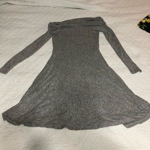 Gray, off the shoulder Abound sweater dress!